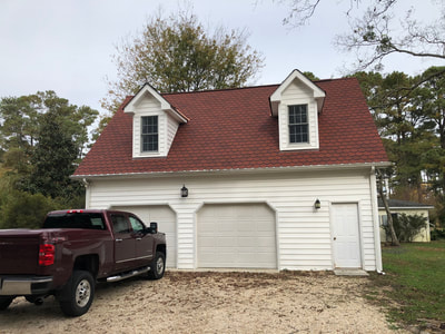 After Carriage House Garage-Georgian Red Shingles