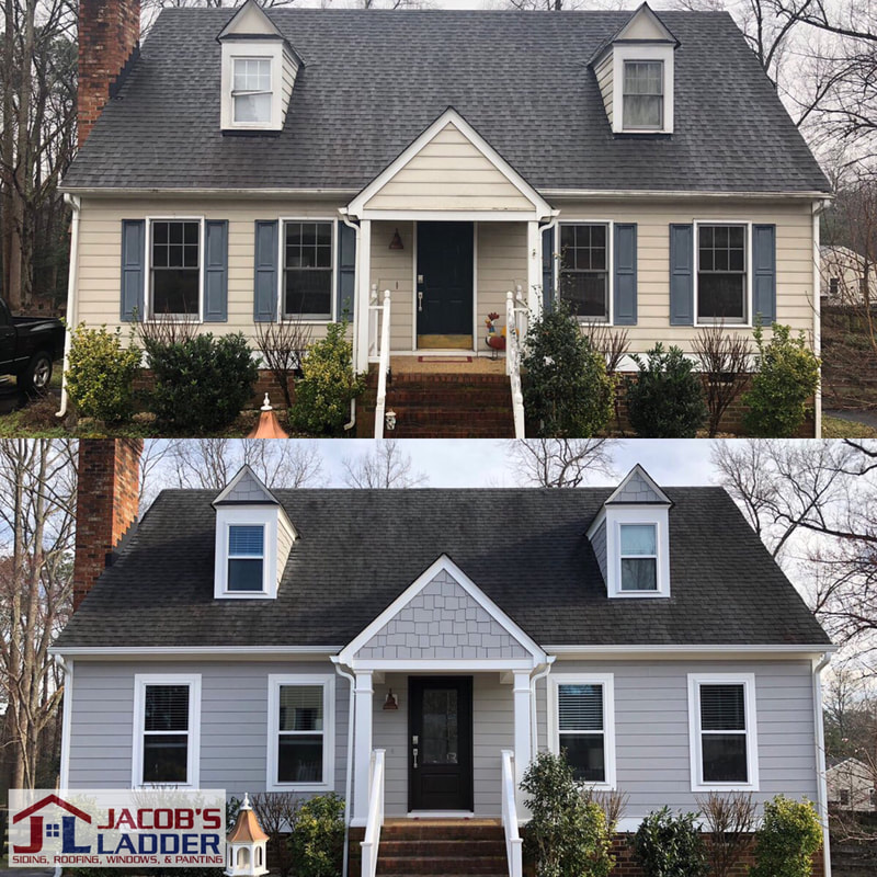 Before and After-Siding Replacement